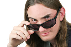 Mister Cool. A handsome teenaged boy with sunglasses. Isolated Stock Images