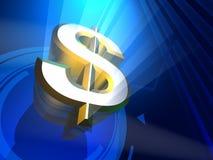 Mister Dollar 3D Render. Dollar symbol 3d render background Stock Images
