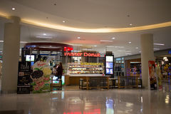 Mister Donut shop In Central Festival Chiang mai. CHIANGMAI, THAILAND -APRIL 7 2017: Mister Donut shop In Central Festival Chiang mai. New Business Plaza of Stock Photography