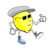 Mister Lemon. Vector illustration of funny, cute lemon Stock Photo