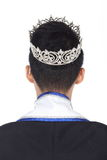 Mister Pageant Contest in Evening Ball suit with Diamond Crown, Royalty Free Stock Images