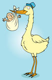 Mister stork with baby Stock Photos