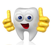 Mister tooth mascot character Royalty Free Stock Photos