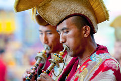 Misterio del Cham, Nepal imagen de archivo