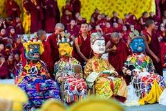 Misterio del Cham, Nepal imagen de archivo libre de regalías