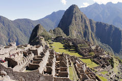 Misterious city of Machu Picchu, Peru. Royalty Free Stock Images