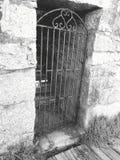 Misterious door. An old iron door Stock Photo