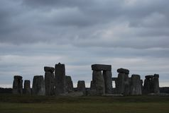 A misterious Stonehenge Royalty Free Stock Photo