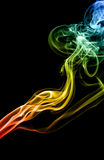 Mistery beautiful smoke Stock Photography