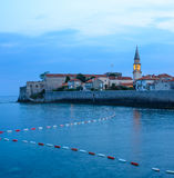 Mistery Evening in Old Town of Budva. Montenegro, Balkans, Europe. Stock Photo