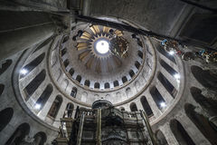 Mistery Of Tomb. The tomb of Jesus inside the Holy Sepulchre Basilica stock image