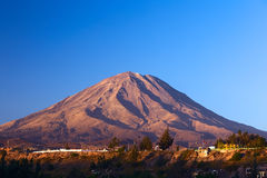 Misti Volcano at Arequipa, Peru Royalty Free Stock Photo