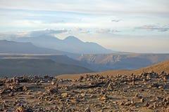 Misti Volcano, le Ande, Perù Immagini Stock