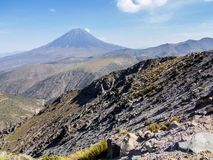 Misti volcano in the Peruvian Andes Royalty Free Stock Photo