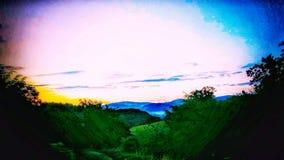 Mistic berg royaltyfri fotografi