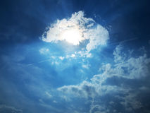 Mistic sky. Mistic blue sky with clouds Stock Photography