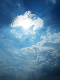 Mistic sky. Mistic blue sky with clouds Stock Image