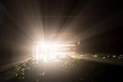 Mistic-Strahln-Lichtglanz Stockfotos