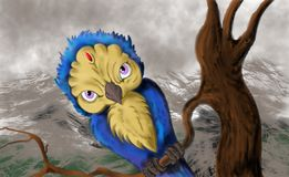 Mistical-Eulenvogel stockfotos