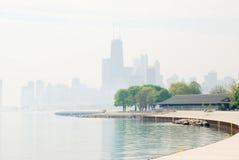 Mistig Chicago Royalty-vrije Stock Afbeelding