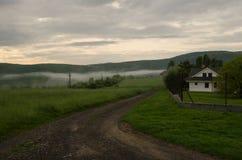 Mistig landschap in aard royalty-vrije stock foto