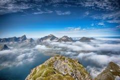 Mistige berg scape Stock Fotografie