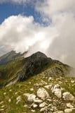 Mistige bergen Royalty-vrije Stock Foto