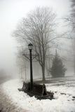 Mistige de winterdag Stock Foto