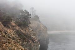 Mistige Kustlijn van Noordelijk Californië in Sonoma royalty-vrije stock foto's