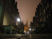 Mistige nacht royalty-vrije stock foto