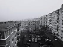 Mistige ochtend in Oost-Europa Royalty-vrije Stock Foto
