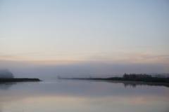 Mistige rivier Royalty-vrije Stock Foto