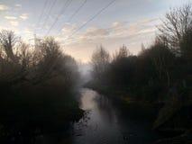 Mistige rivier Royalty-vrije Stock Afbeelding