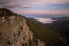 Mistige Zonsondergang in Colorado Stock Afbeelding