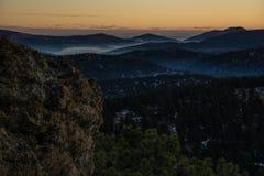 Mistige Zonsopgang in Altijdgroen, Colorado Royalty-vrije Stock Foto's