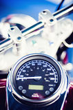 Mistique light over a classic bike speedometer Stock Images