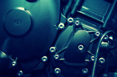 Mistique light over a motorcycle engine Royalty Free Stock Photo