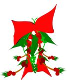 Mistletoe. With red bow and ribbon in 3d Royalty Free Stock Photo