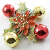 Mistletoe and balls Royalty Free Stock Images