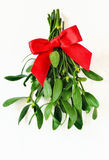 Mistletoe bunch. Decorated for christmas, stylized image royalty free stock photo