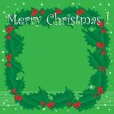 Mistletoe Christmas frame Stock Image