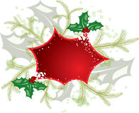 Mistletoe christmas frame, elements for design, vector Stock Photo