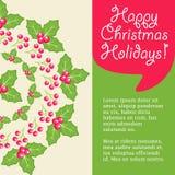 Mistletoe christmas greeting card. Stock Images