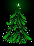 Mistletoe Christmas tree Stock Images