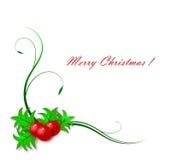 Mistletoe frame Stock Photo