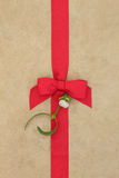 Mistletoe Gift Wrapping Stock Images