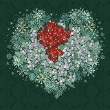 Mistletoe heart Royalty Free Stock Image