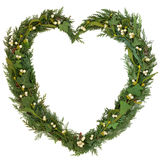 Mistletoe Heart Wreath Royalty Free Stock Image