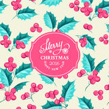 Mistletoe holiday card Stock Images