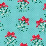 Mistletoe seamless wallpaper. Festive mistletoe seamless wallpaper design Royalty Free Stock Photo